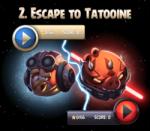 Как пройти Angry Birds Star Wars 2 эпизод Escape to Tatooine (Побег на Татуин) и получить 3 звезды.